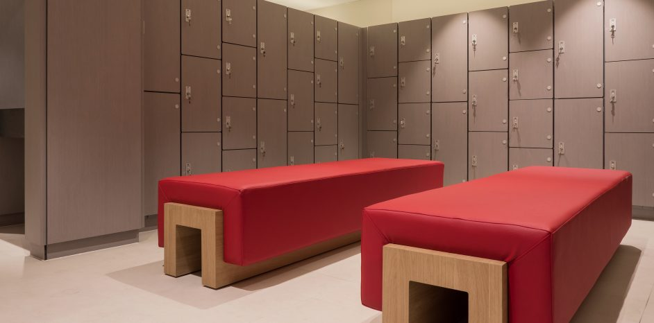 Bluecoat Sports Club – Changing room systems